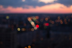 Bokeh night city background