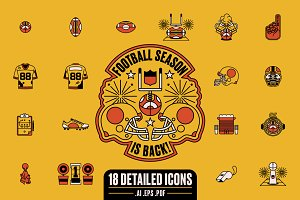 Football Season is Back! Icon Set