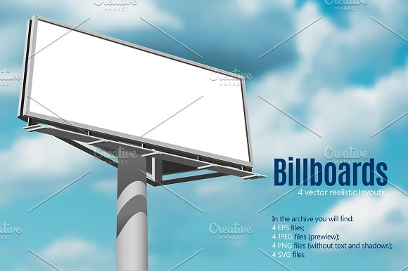 Realistic Billboard Set