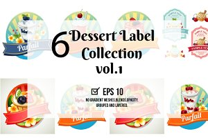 6 Dessert Label vol. 1