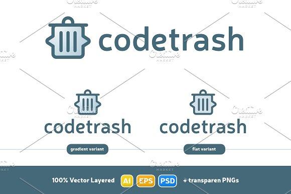 Code Trash Logo Design