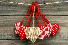 Lovely hearts decoration
