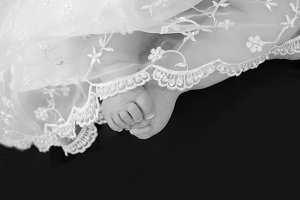 Baby Feet and Lace
