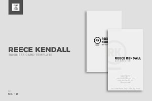 Minimalist Business Card No. 10
