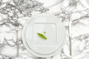 Diet concept Table place setting
