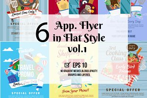 6 Application Flyer in Flat Style