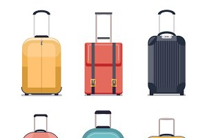 Travel luggage icons