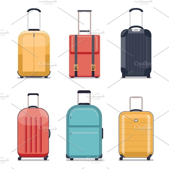 Travel Luggage Icons