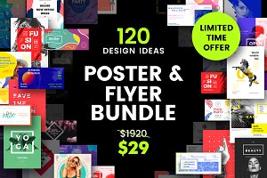 120 in 1 Poster & Flyer Bundle