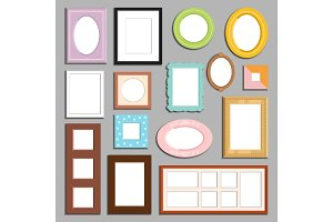 Photo or image wall and table decorative frame template vector.