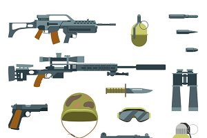 Weapon guns icons
