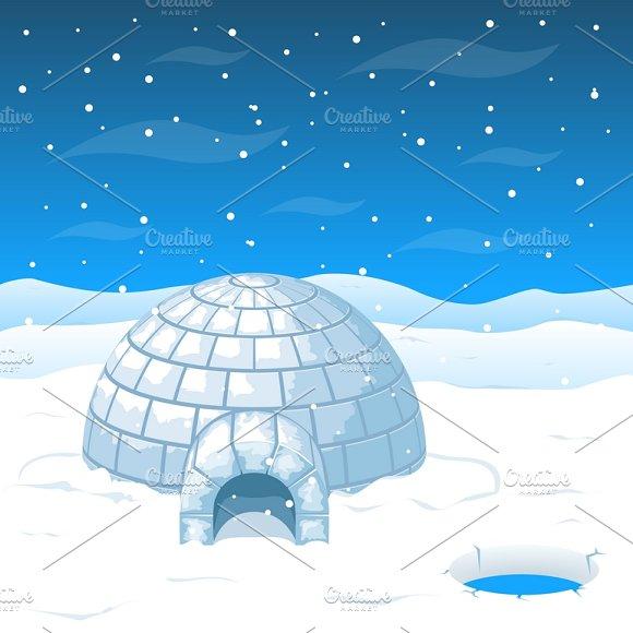 Eskimo House From Ice Blocks