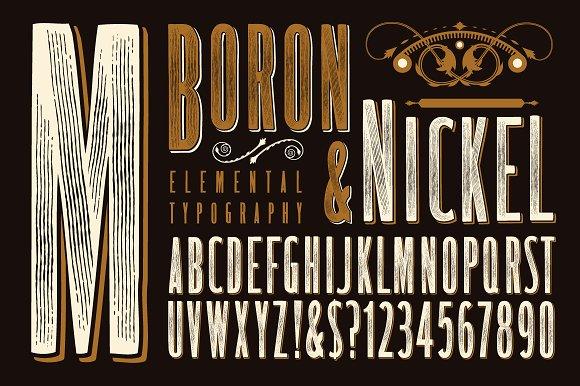 Lettering Design Boron Nickel