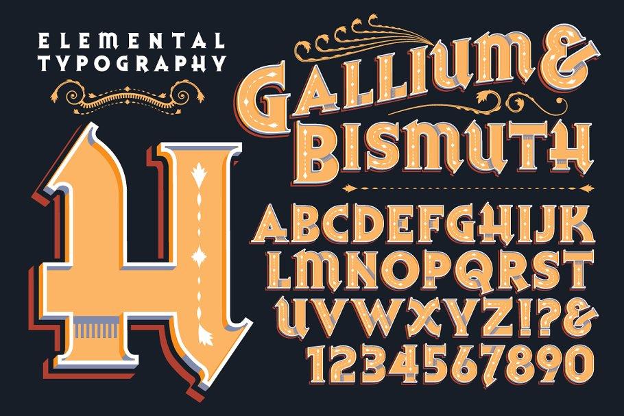 Lettering Design: Gallium & Bismuth