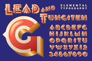 Lettering Design: Lead & Tungsten