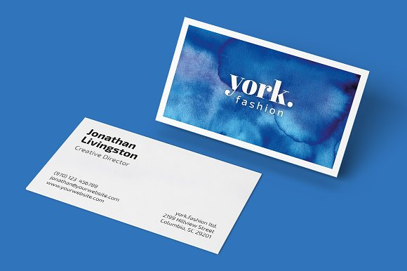 Watercolor Business Card Artwork