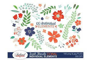 Fresh Florals - 100 Item Value Pack