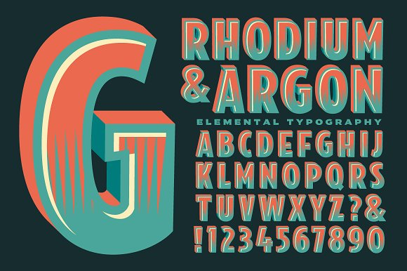 Lettering Design Rhodium Argon
