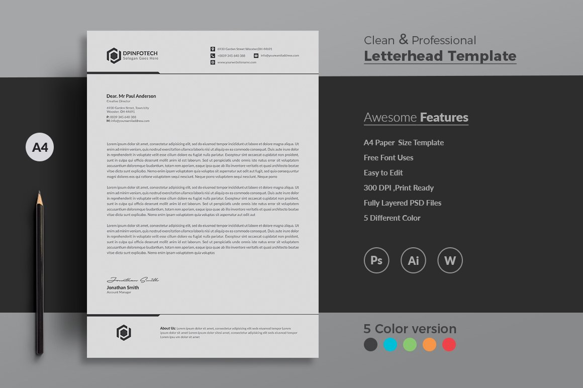 Letterhead ~ Stationery Templates ~ Creative Market