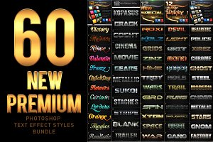 60 New Premium Text Effect Styles