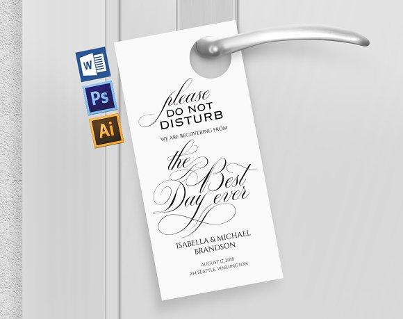 Wedding Door Hanger Wpc254