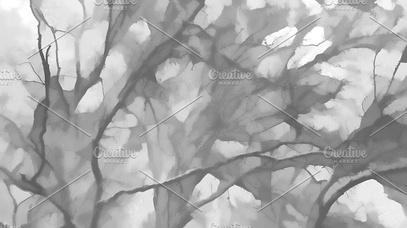 Horizontal Black And White Illustration Background