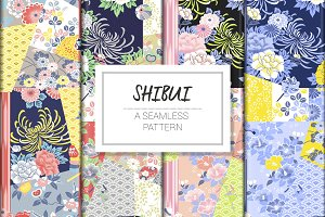 SHIBUI, JAPANESE SEAMLESS PATTERN