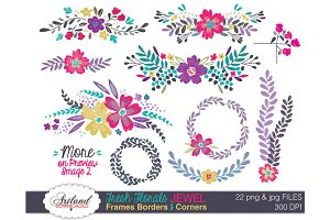 Fresh Florals Frame Pack - Jewel