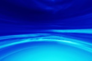 Horizontal vibrant blue virtual cloudscape background