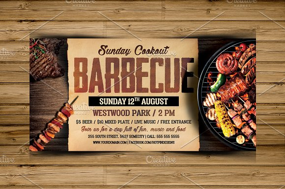 Barbecue Bbq Flyer Template Bundle Flyer Templates Creative Market