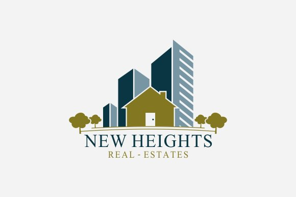 new heights real estate logo logo templates creative market