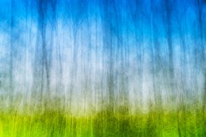 Vertical bokeh blurred abstract landscape background