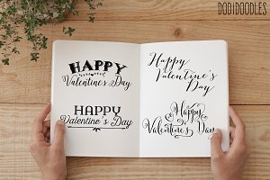 Valentine's Day Text Overlays