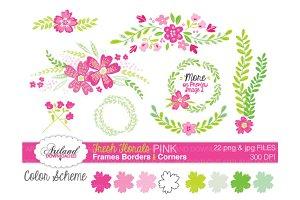 Fresh Florals Frame Pack - Pink