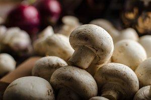 Mushrooms raw home-grown