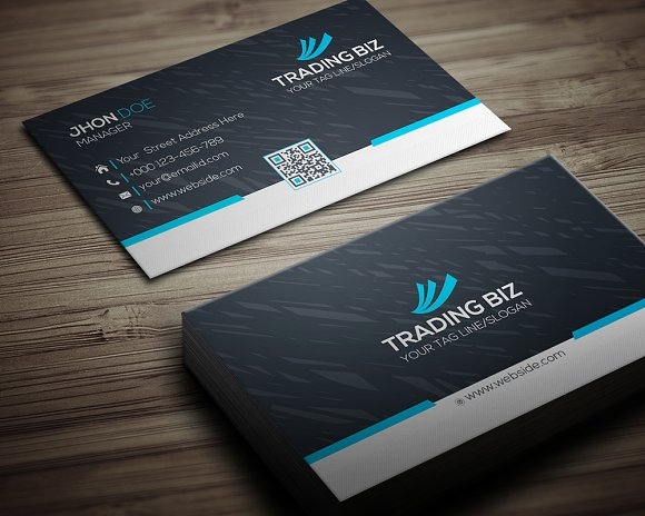 Tranding Biz Business Card-Graphicriver中文最全的素材分享平台