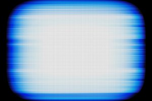 Horizontal blue retro vintage tv screen abstraction background b