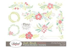 Fresh Floral Frame Pack - Spring