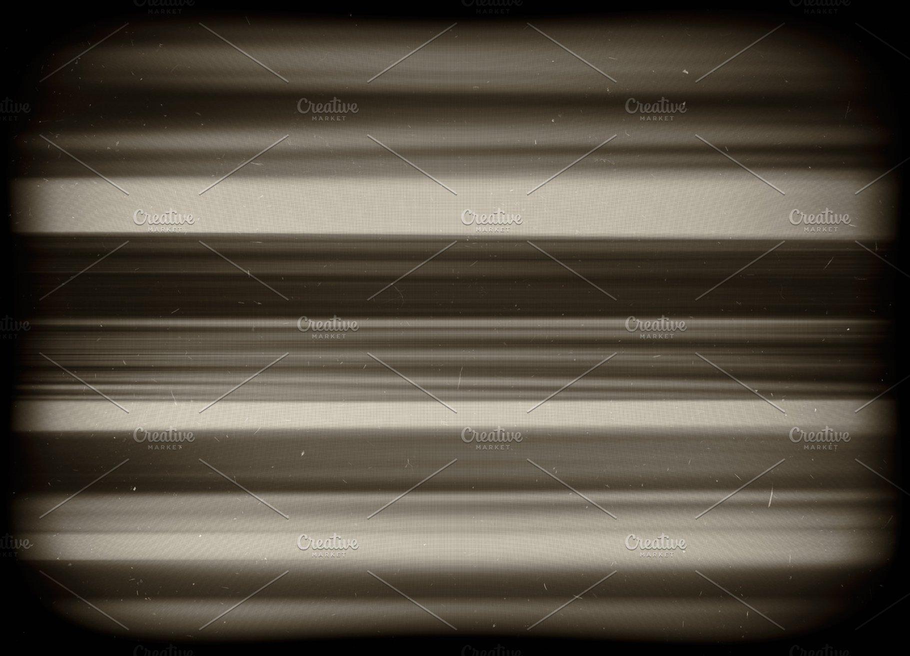 Horizontal vivid green interlaced tv static noise lines abstract