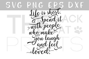 Inspirational quote SVG DXF PNG EPS