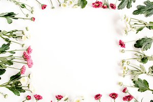 Frame of wild flowers