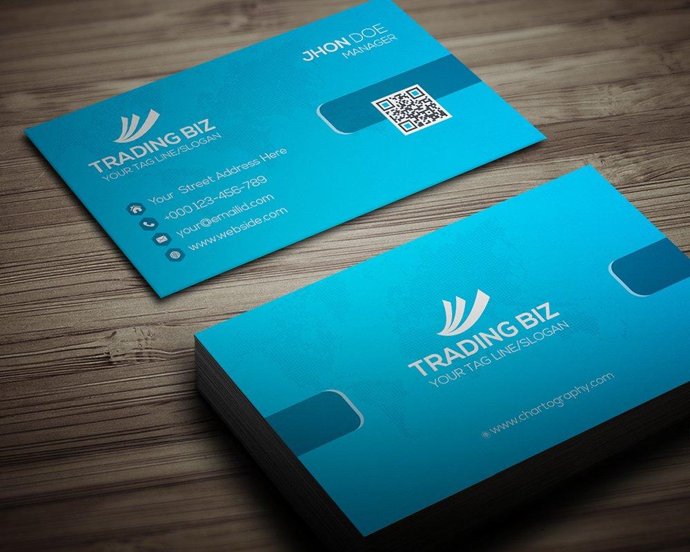 Trading biz business card business card templates creative market colourmoves