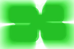 Horizontal green clover abstract illustration background