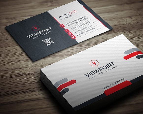 View point business card business card templates creative market colourmoves