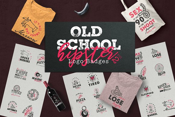 Old School Hipster Logo Bad-Graphicriver中文最全的素材分享平台