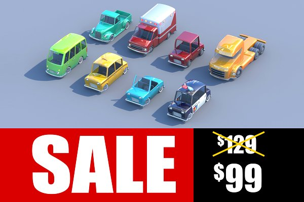 3D Vehicles - Toycar Pack
