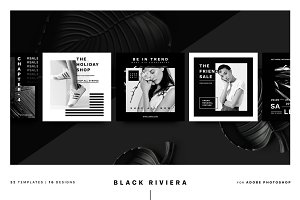 Black Riviera Social Media Pack