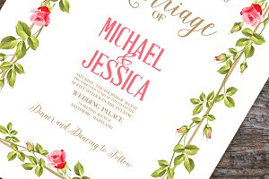 Printable Retro Marriage Invitation
