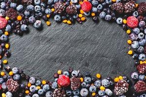 Frozen berries frame