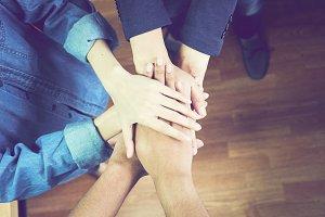 Business teamwork Join Hands